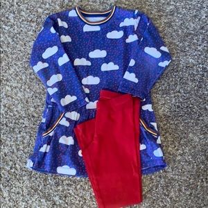 Mini Boden looking dress and leggings